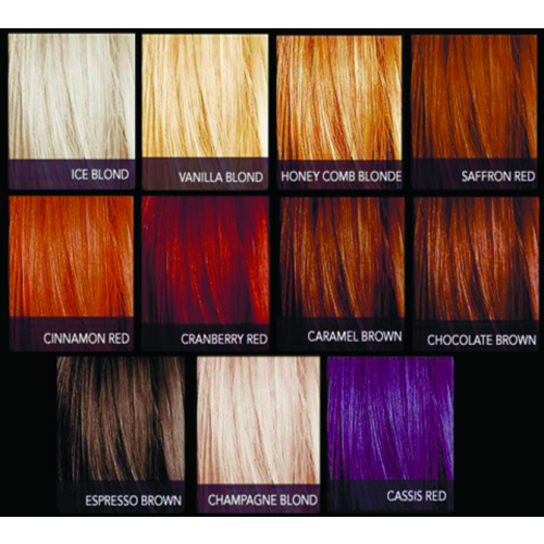 Sebastian Cellophanes Color Chart Color De Cabello Tablas