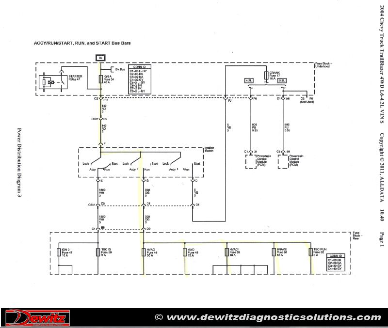 Burnt Ignition Switch Causes Trailblazer Electrical Issues Chevy Trailblazer Trailer Wiring Diagram Chevrolet Trailblazer