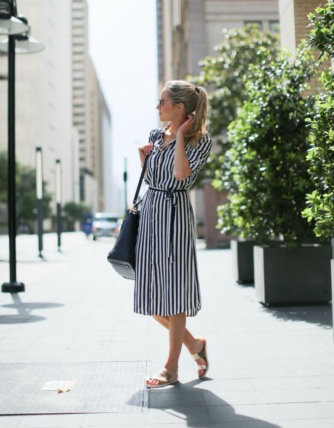 striped shirt dress | memorandum