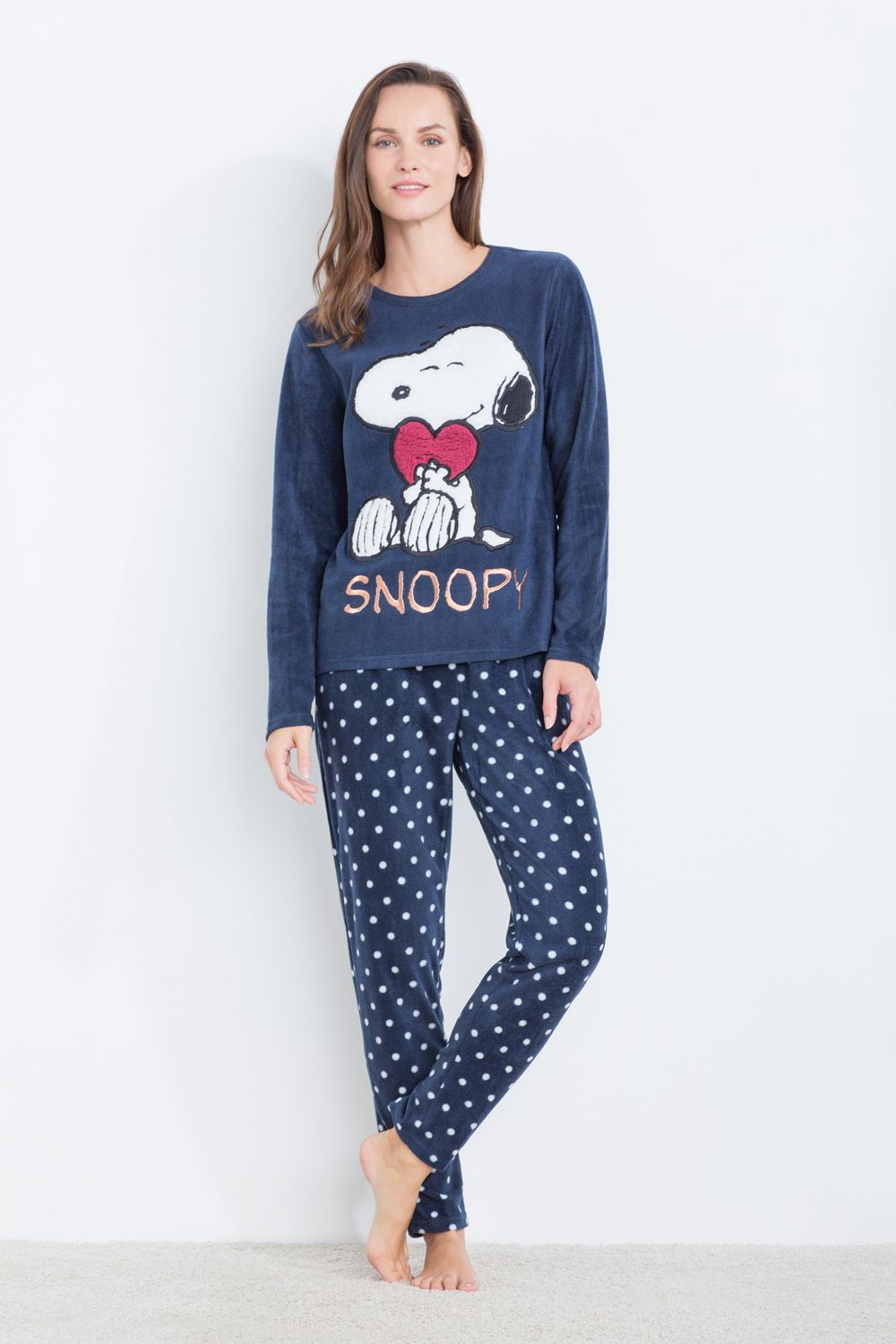 86509f59c3 Women´secret - Pijama largo Snoopy corazón