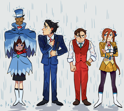 Wright Anything Agency Rain Phoenix Wright Ace Apollo Justice