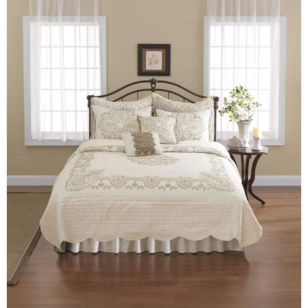 Buy Nostalgia Home™ Nicola Twin Quilt In Ivory From At Bed Bath U0026 Beyond.  Renew And Refresh Your Bedroom With The Fabulous Nicola Quilt.