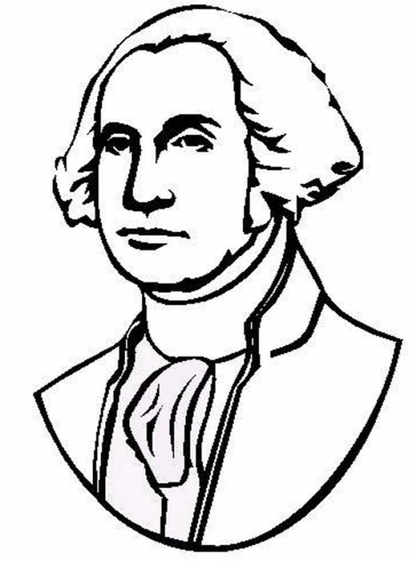 The Portrait Of United States 1st President George Washington Coloring Page Kids Play Col In 2020 George Washington Pictures Coloring Pages George Washington Cartoon