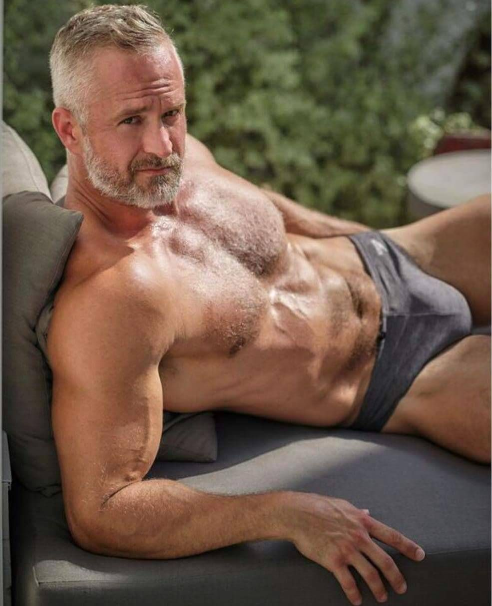 Hot older hairy men