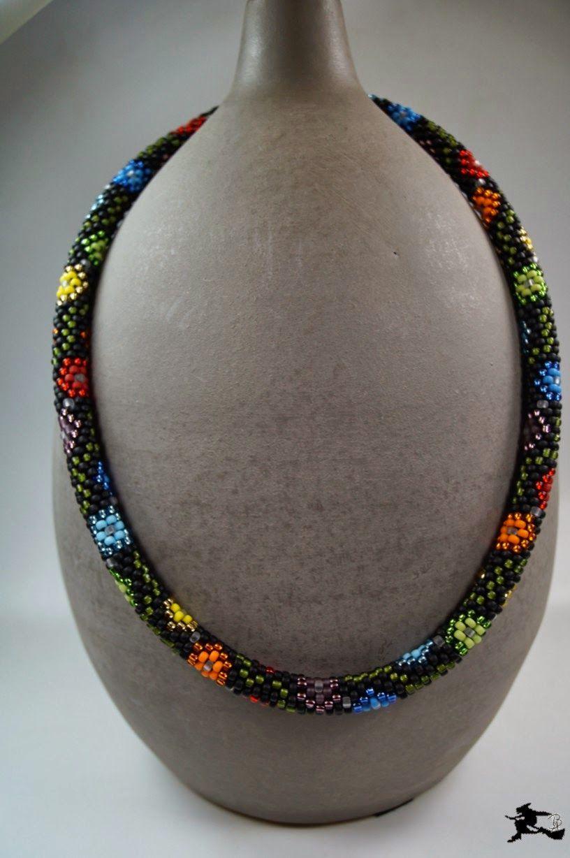 Perlenspiegel Schema Schlauchkette Farbmuster Häkeln