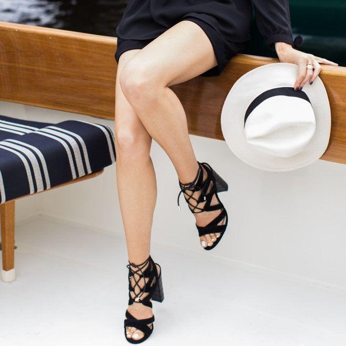 Sam Edelman 'Yardley' Lace Up Sandals Black