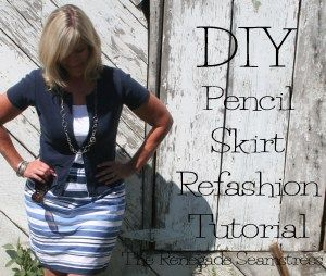 DIY Pencil Skirt Refashion Tutorial