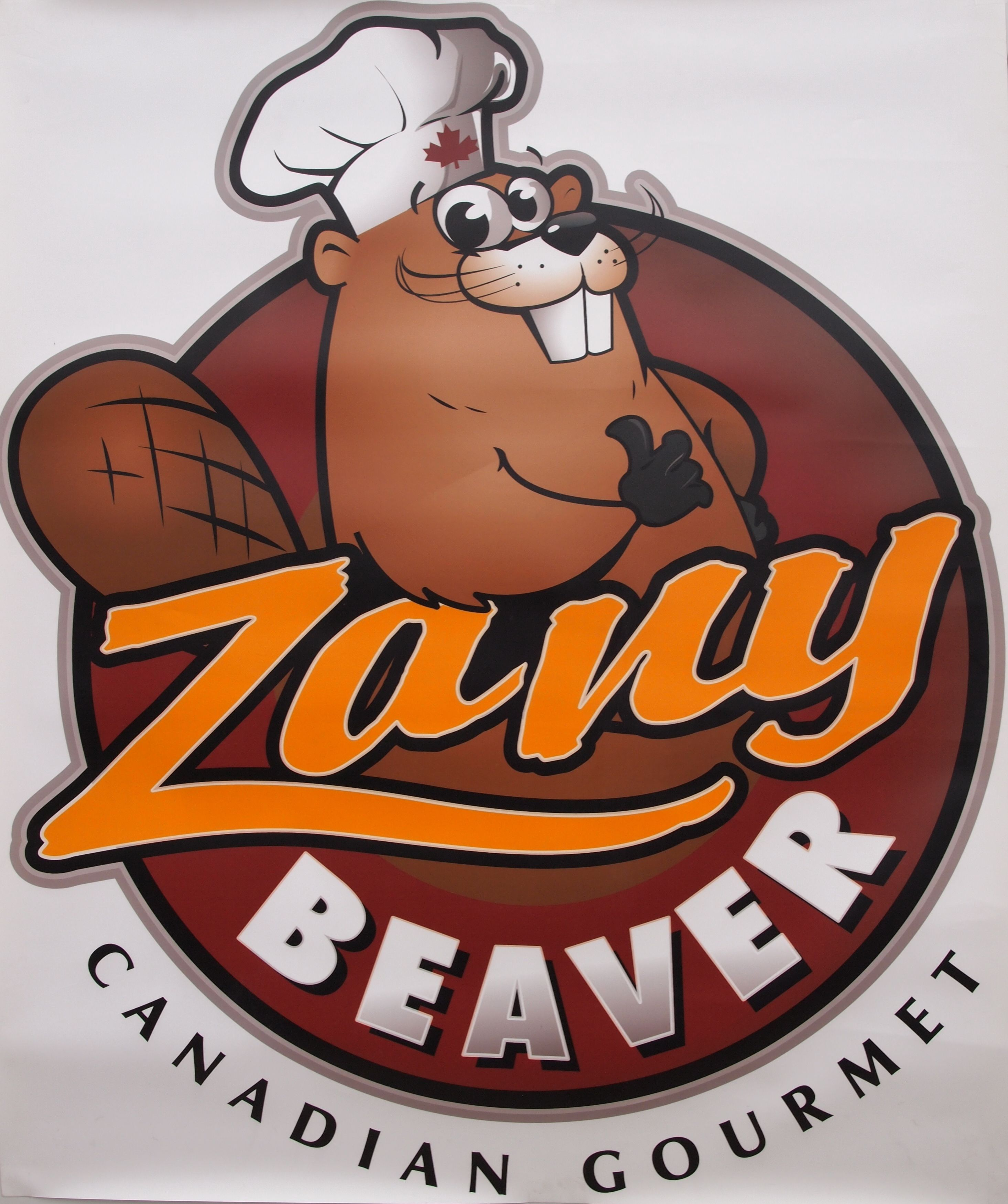 ZanyBeaver logo and mascot foodtruck poutine Tucson