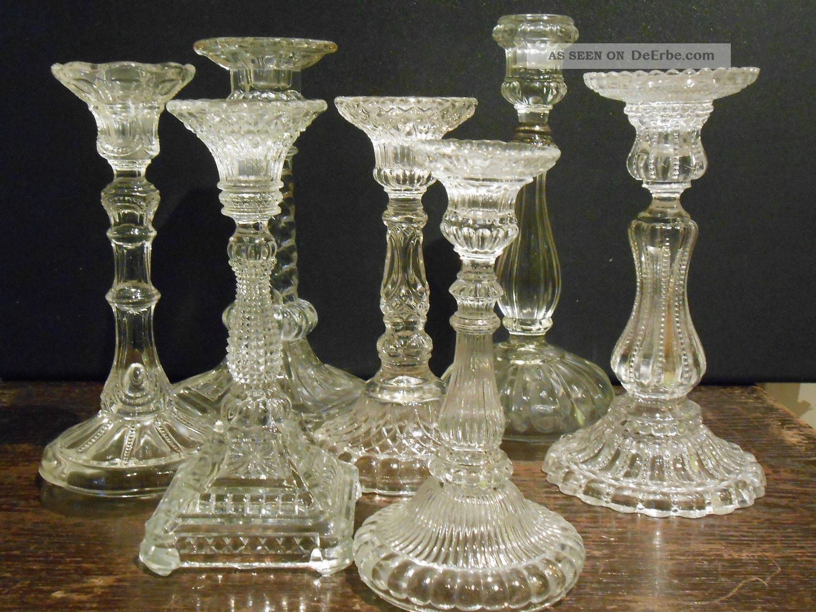 Tlg konvolut alte kerzenleuchter kerzenständer glas pressglas