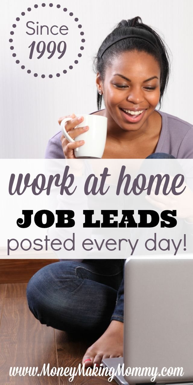 Work at Home Jobs - Current List of Leads Updated Daily | Find work ...