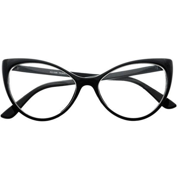 Clear Lens Large Womens Retro Cat Eye Glasses Frames C76 freyrs ($5 ...