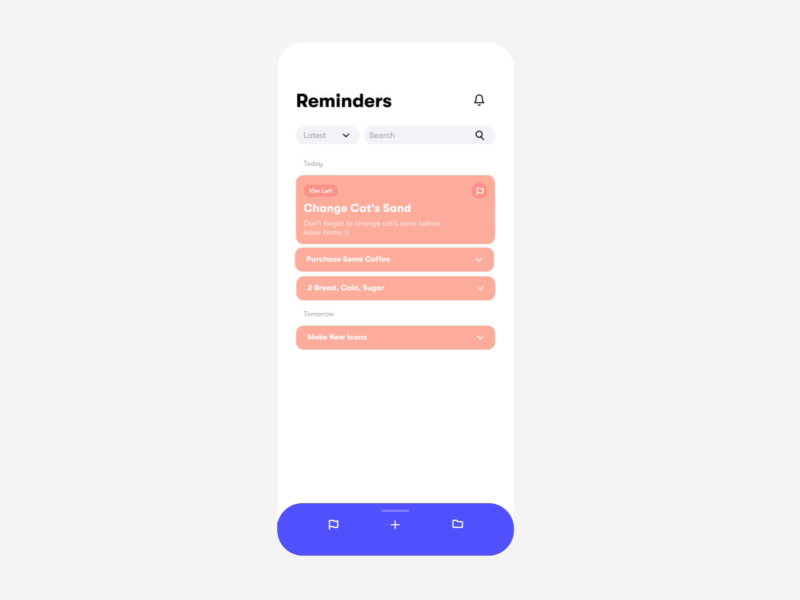 Swipe Up To Add A New Reminder By Huseyin New Reminder Reminder Ads