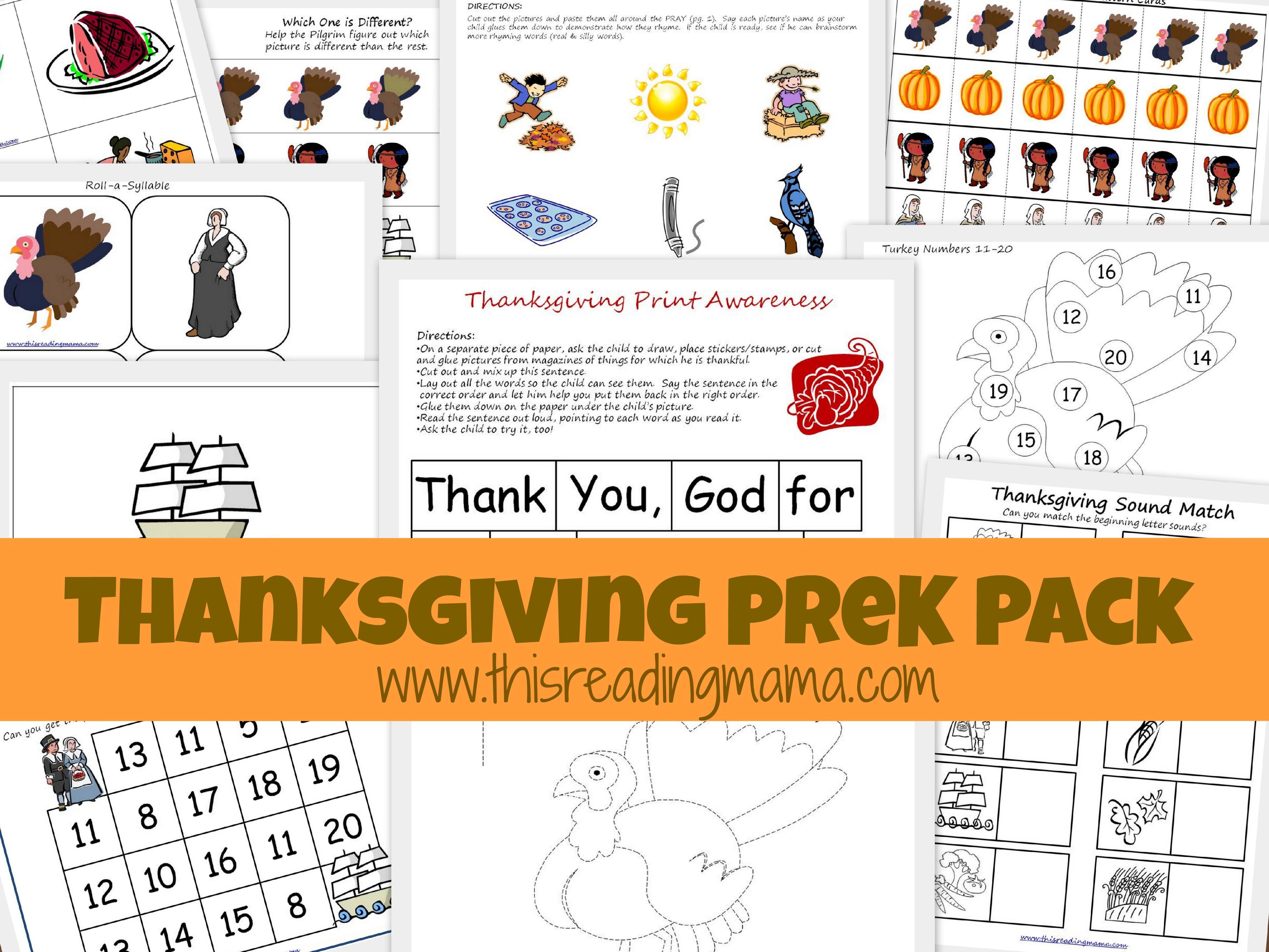 Free Thanksgiving Prek K Pack Thanksgiving Preschool Free Preschool Worksheets Free Preschool [ 3464 x 4618 Pixel ]