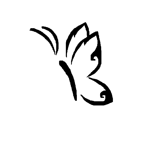 Simple Butterfly By Shamaya Wolf On Deviantart Simple Butterfly Easy Butterfly Drawing Butterfly Sketch