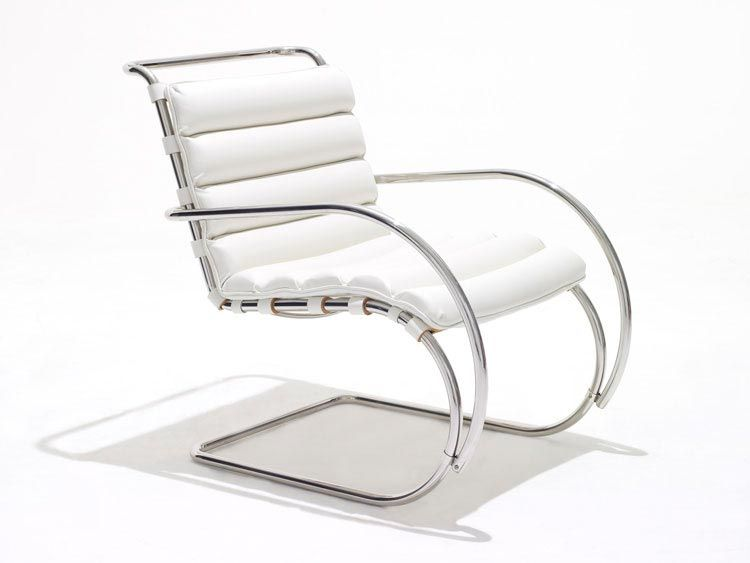 Mr Lounge Chair With Arms Steel Furniture Design Ludwig Mies Van Der Rohe Van Der Rohe