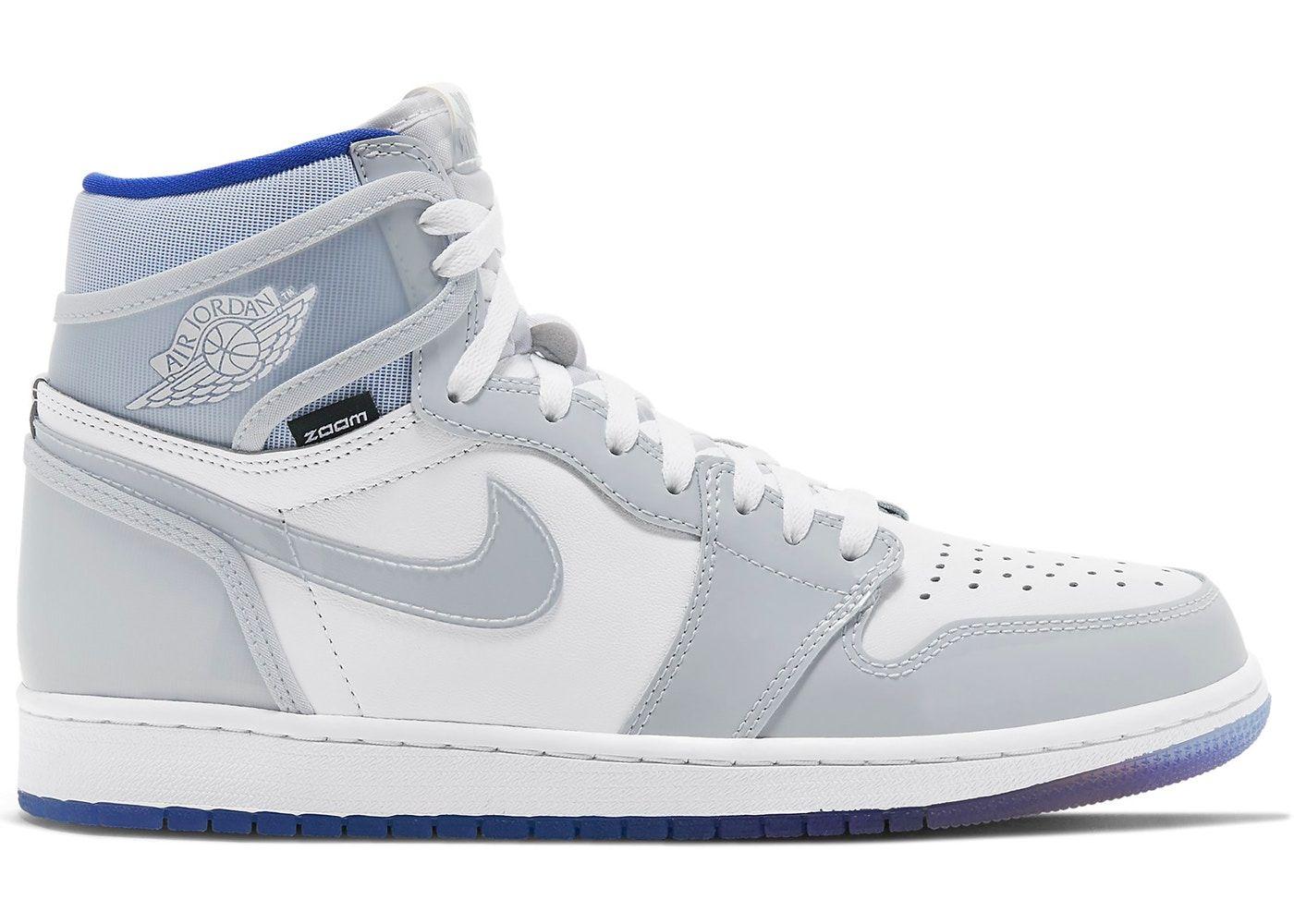 Jordan 1 Retro High Zoom White Racer Blue In 2020 Jordan 1 Retro