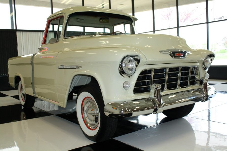 top 6 chevy trucks ever made 1955 chevrolet cameo pickup chevrolet classics pinterest. Black Bedroom Furniture Sets. Home Design Ideas