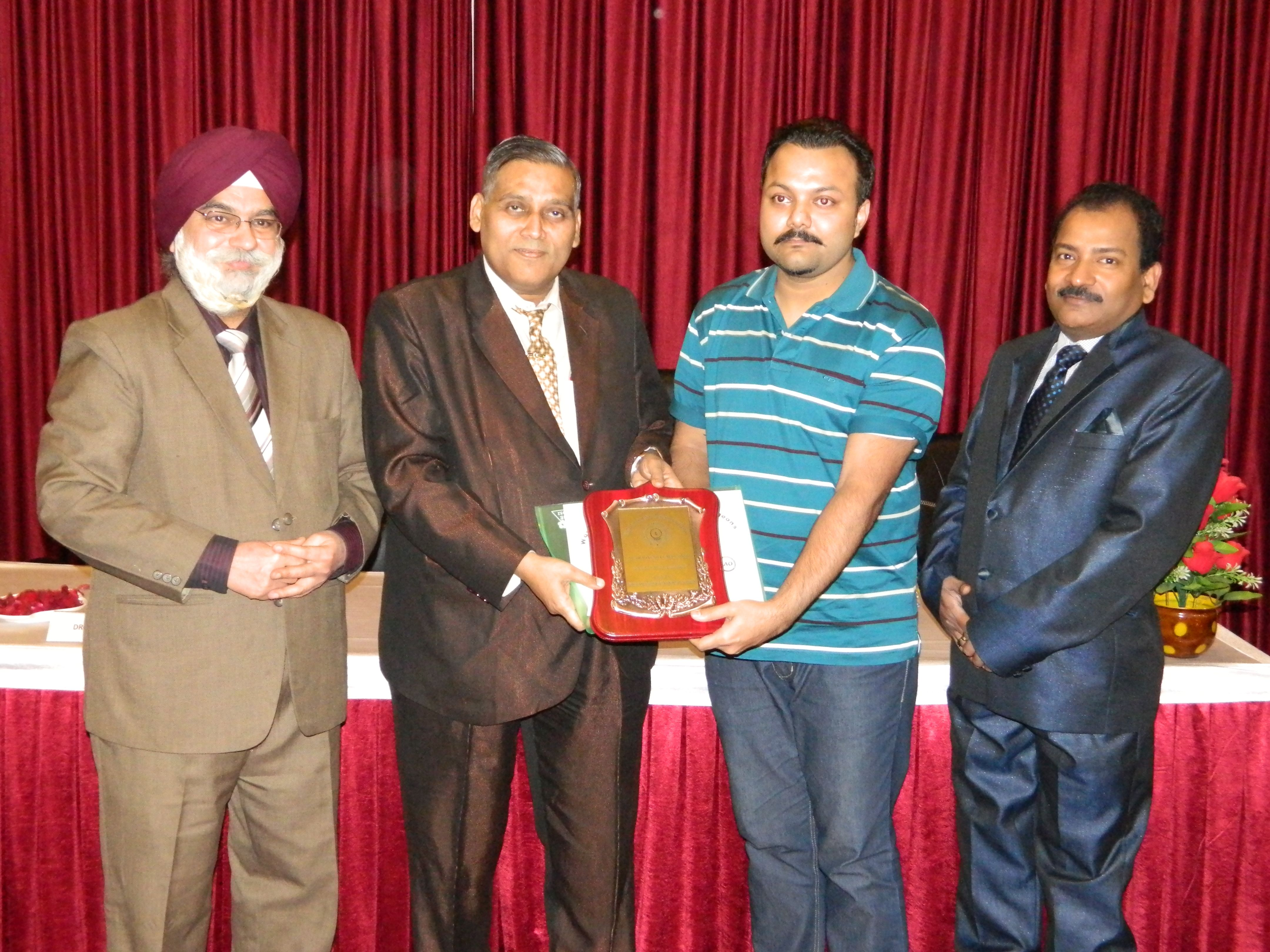 Dr. Pragyesh Kumar Singh receiving certificate of Fellowship in minimal access Surgery at World Laparoscopy Hospital. For more detail please log on to www.laparoscopyhospital.com