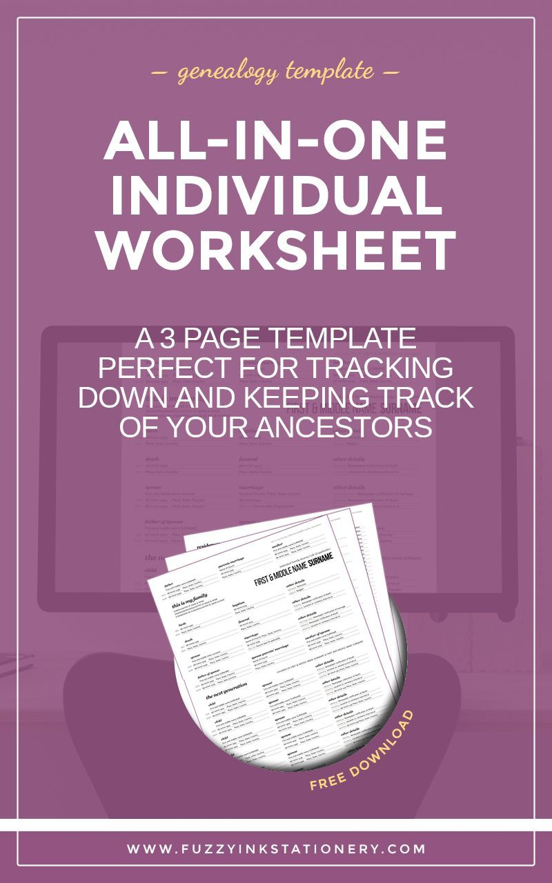 Worksheets Genealogy Worksheet updated the ultimate all in one genealogy worksheet printable template family history ancestry research individual free