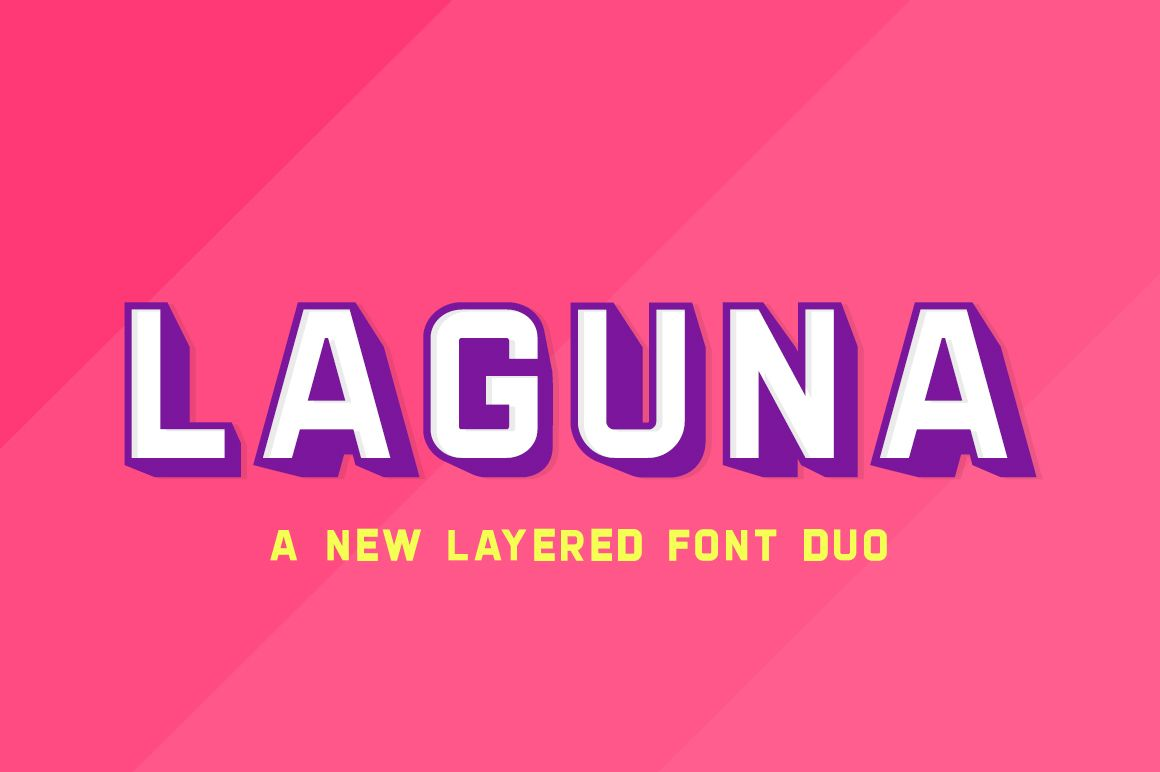 Download Laguna Font Duo | Shadow fonts, Free fonts for designers ...