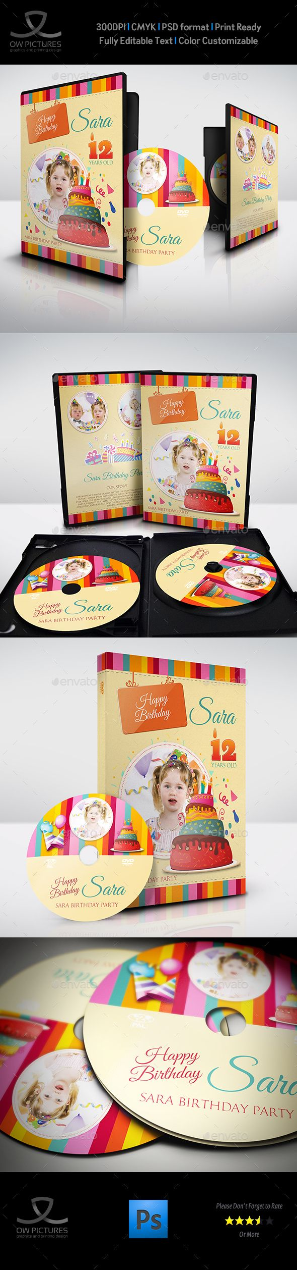 Birthday Party Dvd Cover And Label Template Vol  Label
