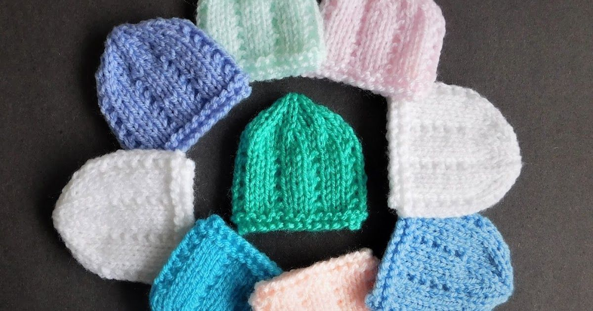 I decided to make micro-preemie sizes of a few of my little hats ...