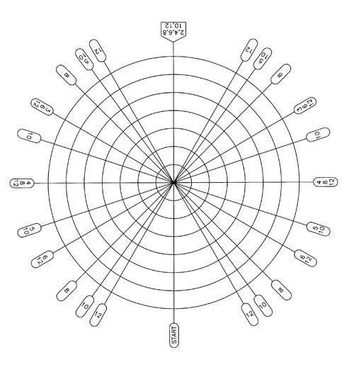 The Dividing Web A Handy Tool for Making Evenly Spaced Patterns - polar graph paper