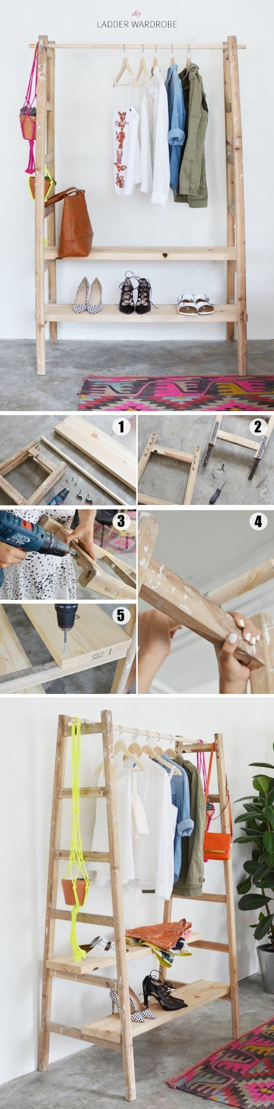 15 Inspiring Ladder Hacks For Every Room   Woodworking, Diy wood and ...