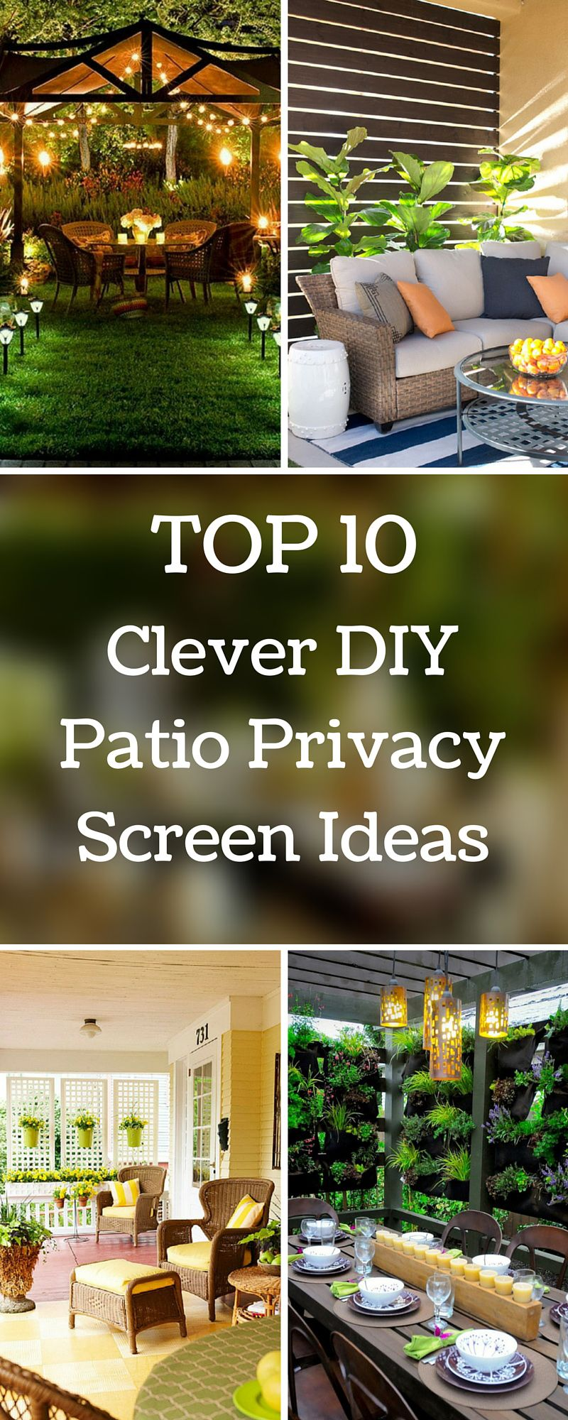 top 10 clever diy patio privacy screen ideas sitting area