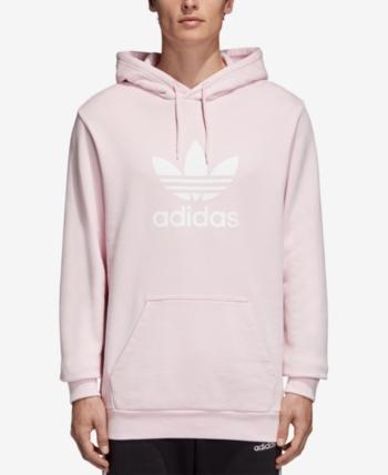 huge discount 94416 c4c5b adidas Men s Treifoil French Terry Hoodie - Pink XL