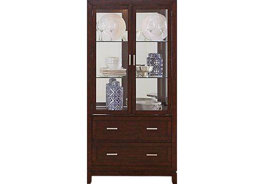Riverdale Cherry Curio China Cabinet Cabinets For Sale Cabinet