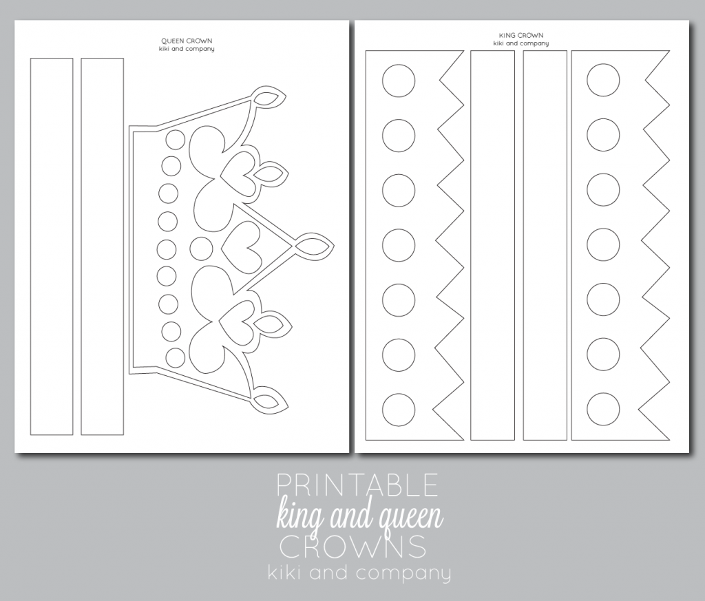 Printable Kings And Queens Crown Free Printable The Crafting Chicks King And Queen Crowns Crown For Kids Queen Crown