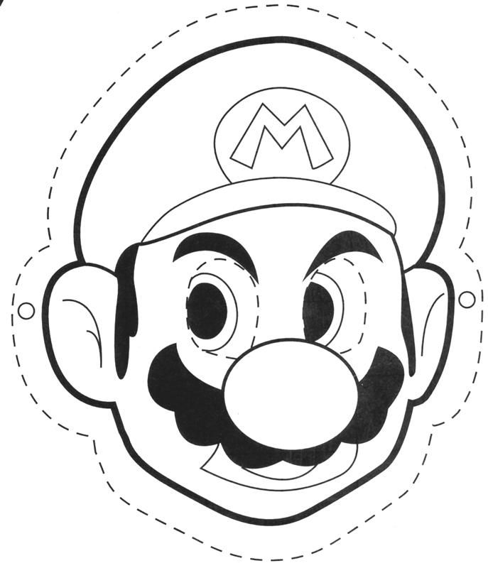 Mario Mask Printable Coloring Pages Super Mario Brothers Birthday