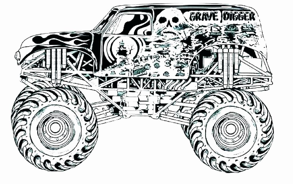 Grave Digger Monster Truck Coloring Pages Printable Collection