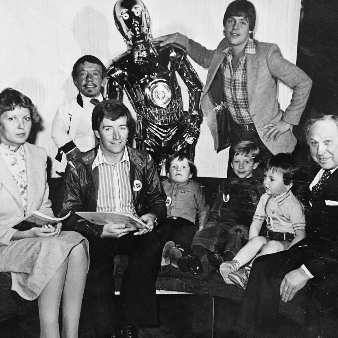 Empire strikes back Premier. 1980.Dad my brother,my friend & I meet Mark Hamill Kenny Baker & C3P0. The obsession begins.