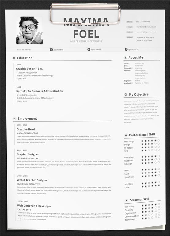 Maxima Resume Template Bricolaje y manualidades Pinterest Job - resume builder templates