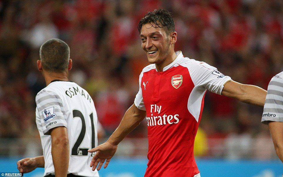 Arsenal 3-1 Everton: Walcott, Cazorla and Ozil score in Asia