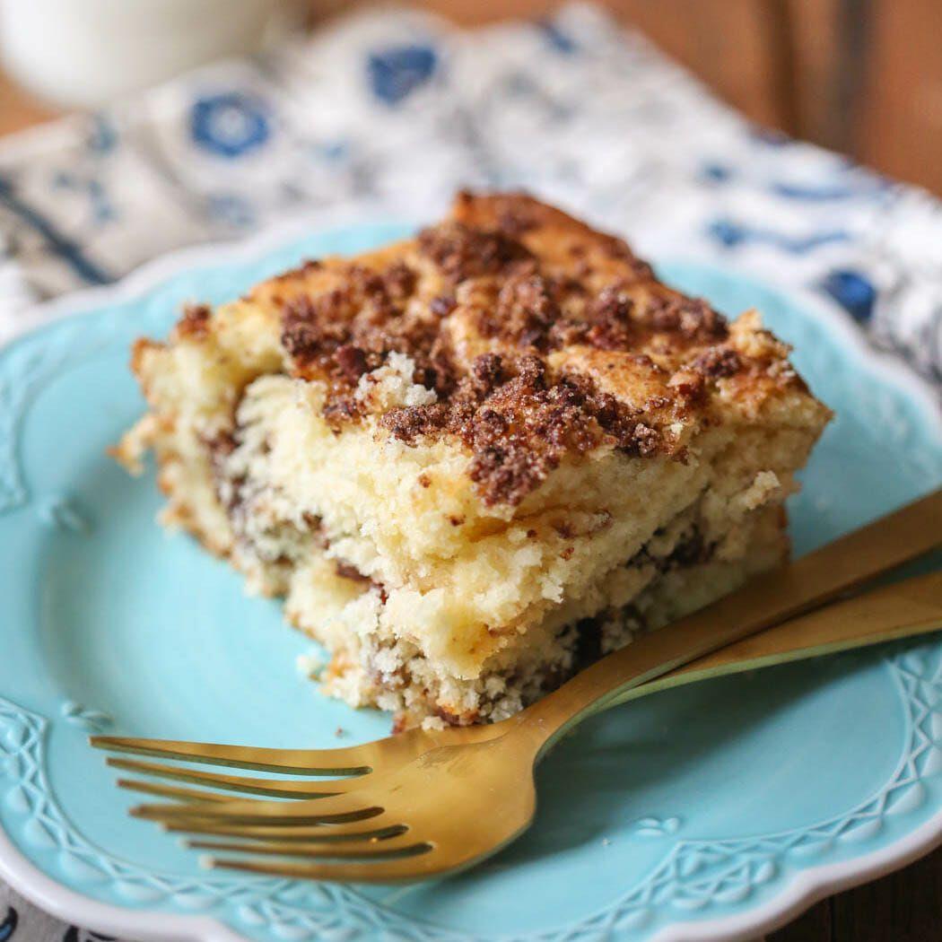 Sour Cream Coffee Cake Recipe Yummyness sweet