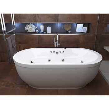 Access Embrace 71 Freestanding Whirlpool Bathtub Jacuzzi