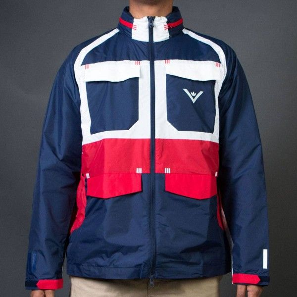 Adidas Men White Mountaineering Field Windbreaker Jacket