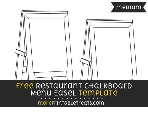 Free Restaurant Chalkboard Menu Easel Template - Medium | Shapes and ...