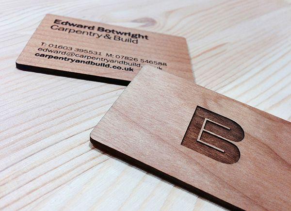 EB Carpentry & Build ~Matt Whitehead   #logo #businesscards ...
