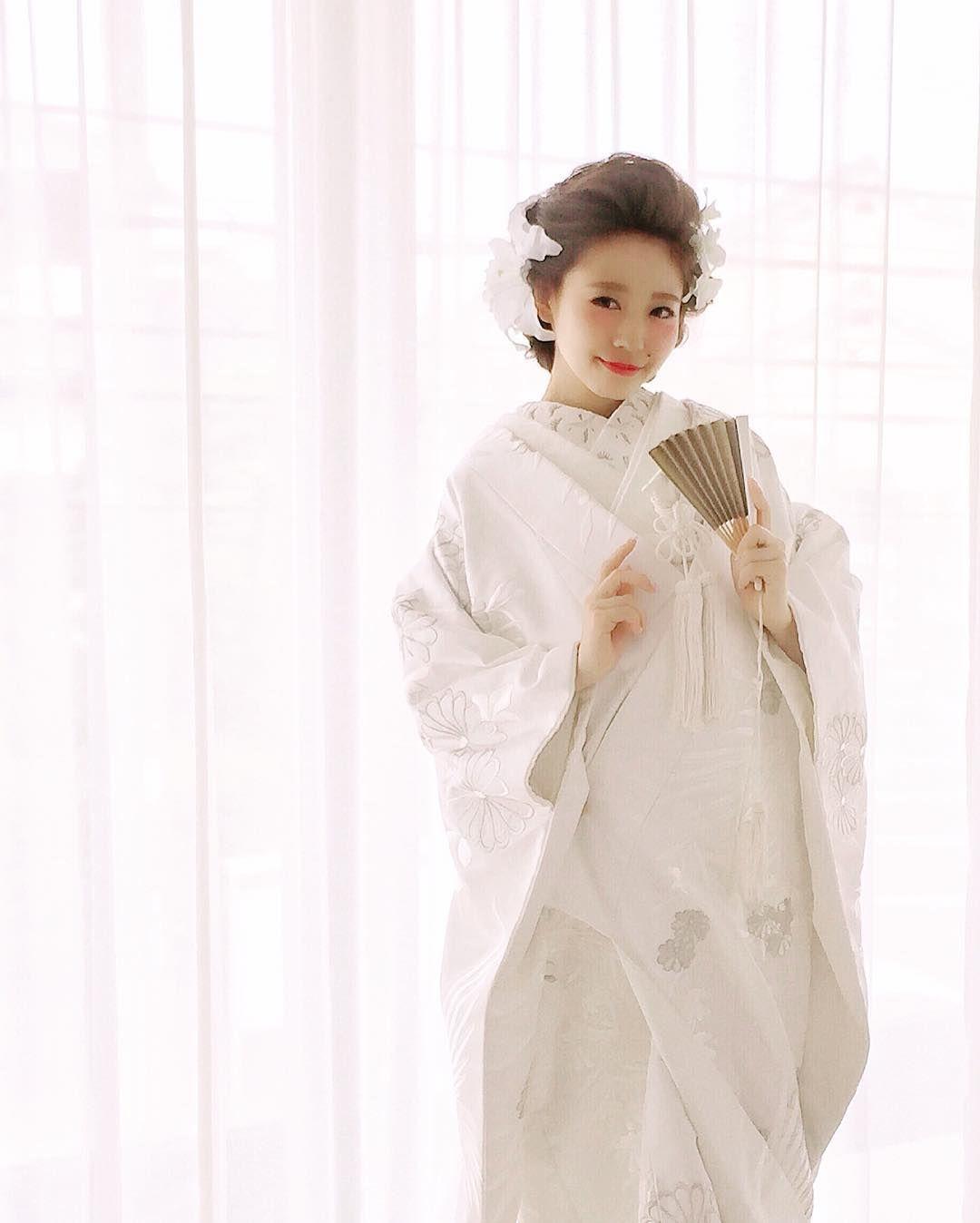 白無垢に似合う洋髪アレンジまとめ Marry マリー 白無垢 髪型 色