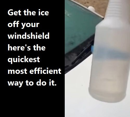 How To Clear Ice Off Your Wind Shield Watch This It Works. It's gone, completely gone.