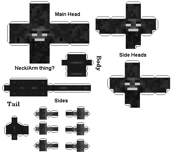 Papercraft Wither Baby