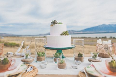Clean, Chic Succulent Inspired Table Decor | As Ever Photography | Dreamy Desert Sunshine Wedding Inspiration