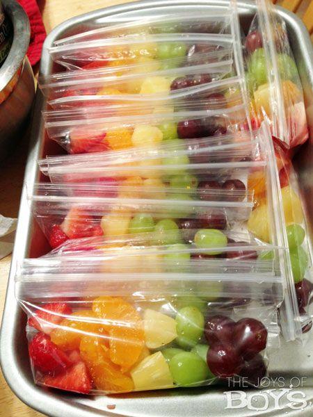 Rainbow fruit snack servir fruta y comida for Servir comida
