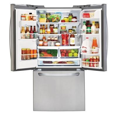 Lg Electronics 33 In W 24 2 Cu Ft French Door Refrigerator In