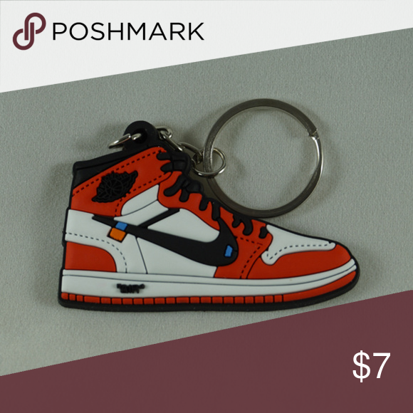 bee14622194b5c Nike Air Jordan 1 Retro Off White Shoe Keychain •Item is 2D and one sided