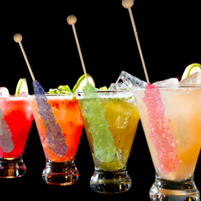 Rock Candy Swizzle Sticks For Your Crystal Cocktails